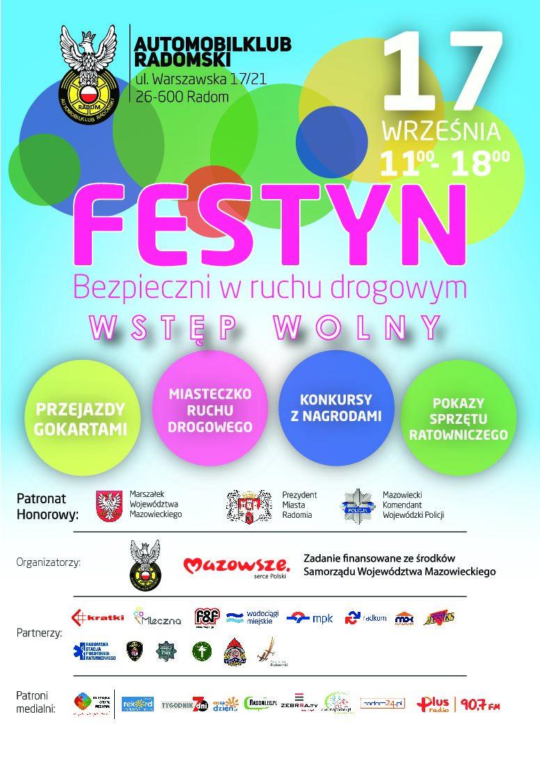 """FESTYN """"Bezpieczni w ruchu drogowym"""" – 17.09.2017 NIEDZIELA"""