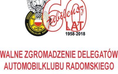 Walne Zgromadzenie Delegatów Automobilklubu Radomskiego 2018