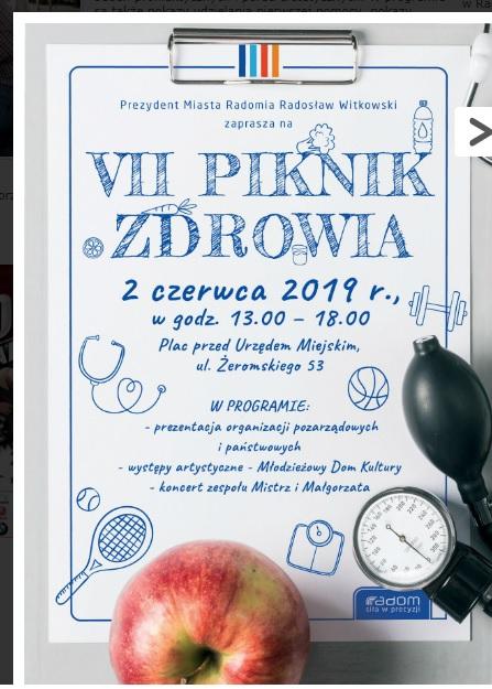 Piknik Zdrowia 02.06.2019