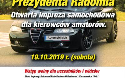 Puchar Prezydenta Radomia – 19.10.2019 – wyniki